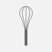 Wire Whisk  Kitchen Utensil  ,  Vector Icon