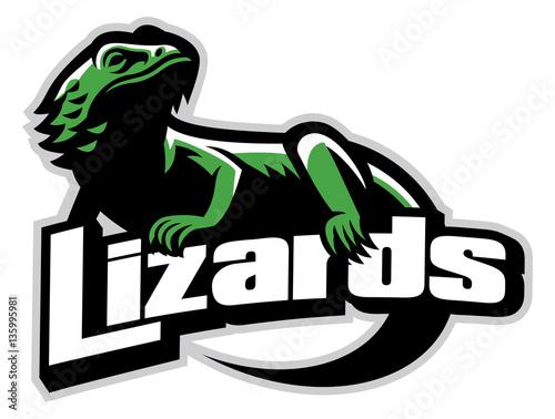 Fotomural Lizard mascot