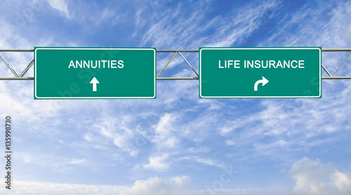 Road sign to Retirement Security Wallpaper Mural