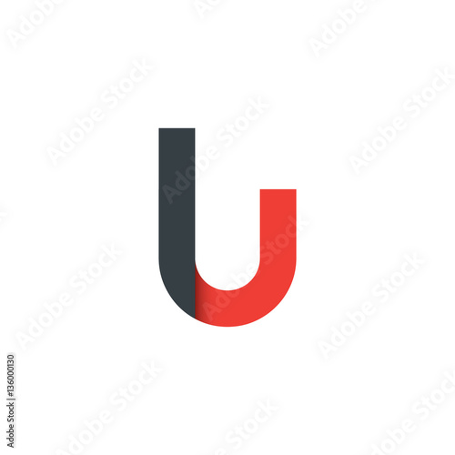 Initial Letter Lu Rounded Lowercase Logo Buy This Stock Vector And