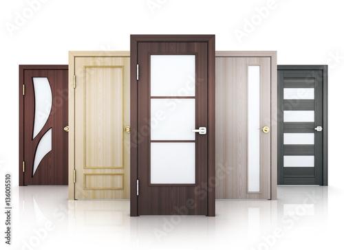 Photo  Row five doors