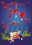 Fototapeta Fototapety Paryż - Walentynki w Paryżu