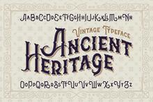 Vintage Vector Font. Elegant Royal Typeface In Medieval Ancient Style.