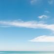 Sand beach blue sky
