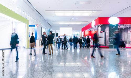 Fotografie, Obraz  blurred people in a modern hall