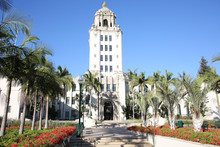 Historic City Hall Of Beverly Hills, California, USA