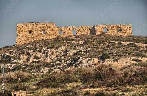 Papiers peints Fortification Cagliari, rovine del Forte di Sant'Elia