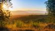 Toskana , Sonnenuntergang, Sommer