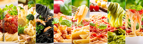 Fotografia collage of various pasta