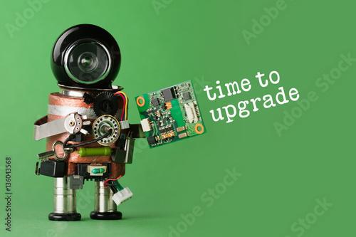 Fotografía  Time to upgrade concept