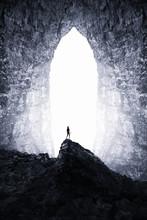Surreal Dark Cave Landscape. M...
