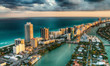 canvas print picture - Aerial view of Miami Beach skyline, Florida