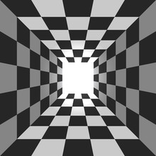 Abstract Square Checkered Tunn...