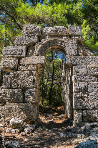 Poster Ruine ruins of an ancient city Phaselis in Turkey