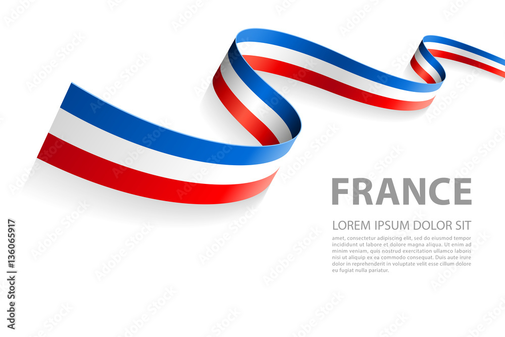 Fototapety, obrazy: Vector Banner with French Flag colors