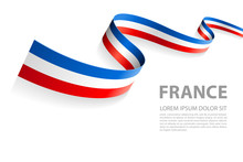 Vector Banner With French Flag Colors