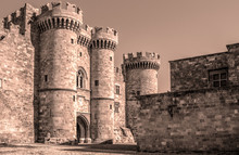 Sepia Image Of The Palace Of T...