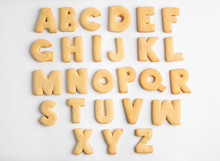 Cookie Alphabet On White Backg...