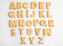 Cookie Alphabet On White Backg...