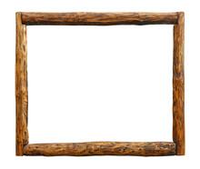 Old Vintage Grunge Wooden Log Border Frame