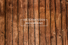 Vector Wooden Background. Brow...