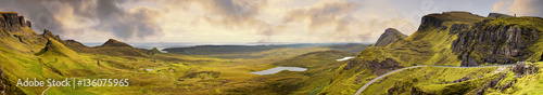 Wall Murals Beige Panorama of the Quiraing mountain range