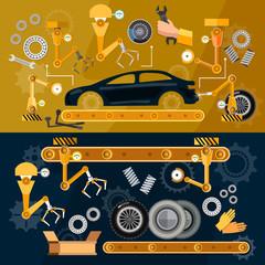 Linija za montažu automobila auti transportna traka