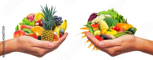 Poster Légumes frais Frisches Obst und Gemüse - Fresh fruits and vegetables