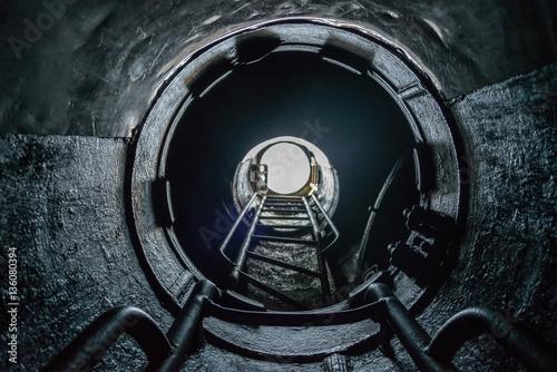 Valokuva  white light form submarine hatch