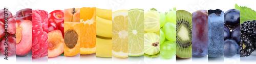 Früchte Frucht Obst Gruppe Sammlung Orange Beeren