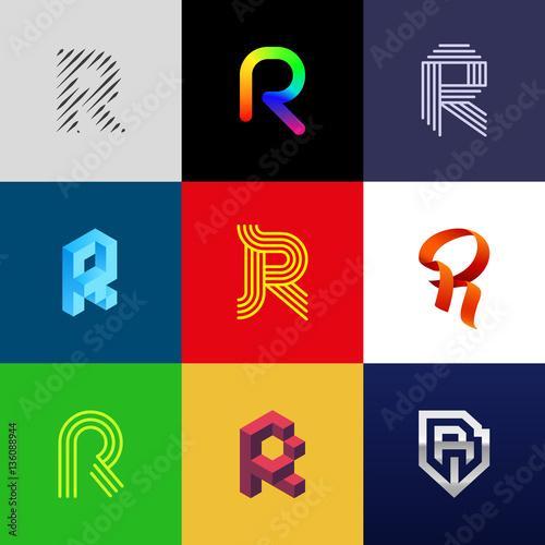 """Photo  Letter """"R"""" big logo pack"""