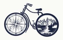 Bicycle Tattoo Art. Symbol Of ...