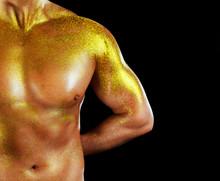 Man With Golden Skin