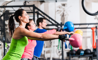Functional fitness workout in sport gym