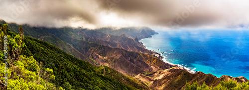 Printed kitchen splashbacks Canary Islands Panoramic landscape in Anaga mountains, Tenerife Canary Islands,