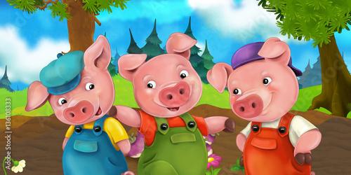 scena-kreskowki-trzech-braci-swin-dzieje