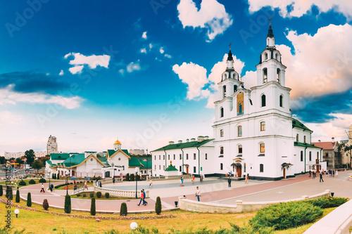 Staande foto Kasteel Minsk, Belarus. Cathedral Of Holy Spirit. Famous Landmark