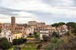 Ruins of Forum and Colosseum in Rome