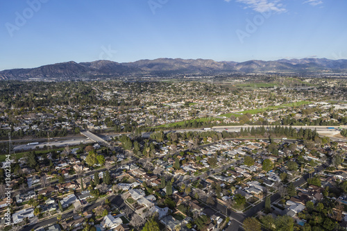 Zdjęcie XXL Granada Hills San Fernando Valley Los Angeles z lotu ptaka