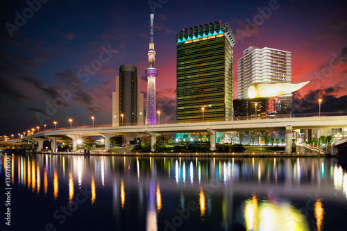 Tokyo, Japan skyline on the Sumida River