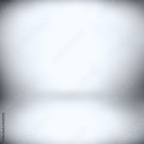 Fototapeta  Mesh Gradient - empty lit room    - vector illustration obraz na płótnie