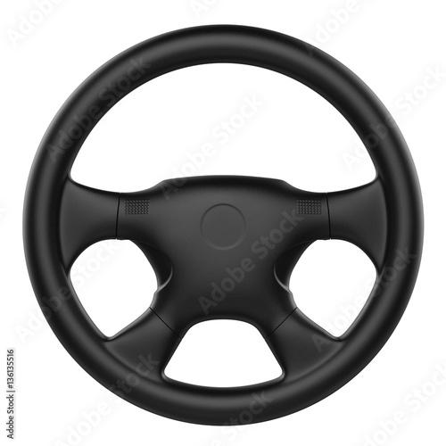 Fotografie, Tablou steering wheel isolated
