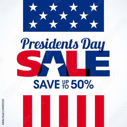 Valokuva  Presidents day sale banner