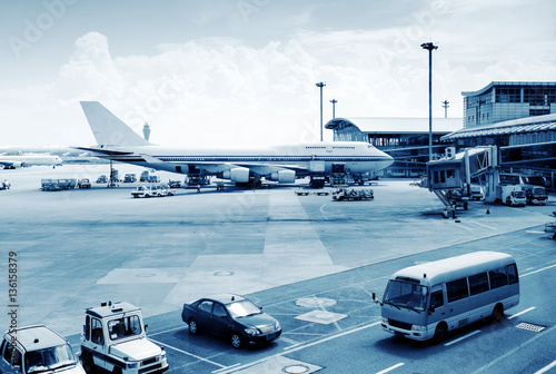 Poster Aeroport Busy airport pictures