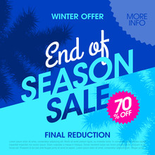 Winter Offer End Of Season Sale Banner