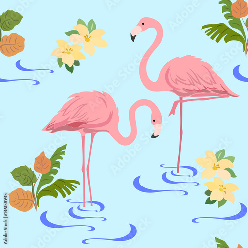 Seamless pattern with a pai...