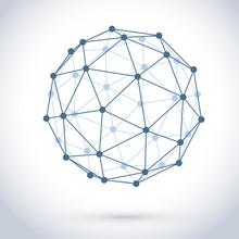 Geometric Wire Mesh Sphere Iso...
