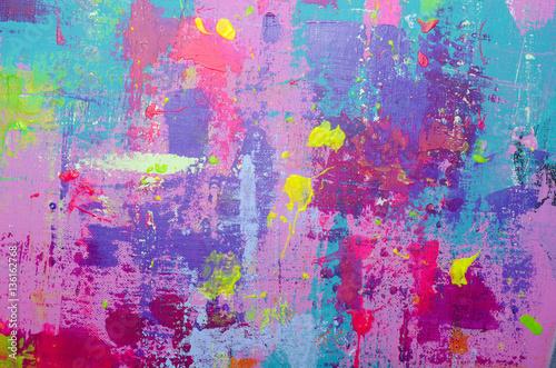 Fotografie, Obraz  Acrylic painted background