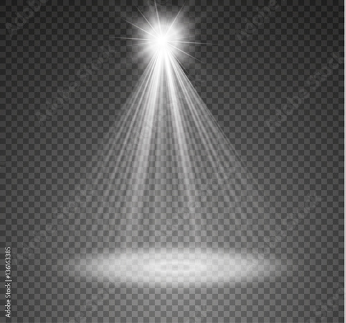 Foto op Canvas Licht, schaduw Vector spotlight. Light effect
