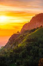 Sunset In The Valley Near The Town Of Ella, Sri Lanka
